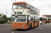 Grimsby Cleethorpes Transport Ltd nO. 116 MBE616R Bus driver ad