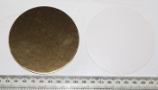 Card disc - 100 x Gold 8.5cm diameter (disc 03/100)