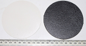 Card disc - 10 x Browny/Black 9.0cm diameter (disc02)
