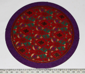 Card Disc - 10 x Purple with red/green 15.4cm diameter (09/10)