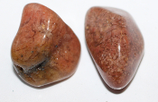 Pink Moss Agate stone - size L (23132)