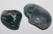 Green Moss Agate stone - size EL (22004)